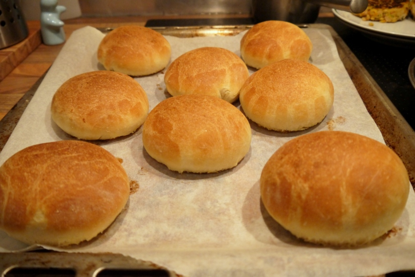 buns fresh from the oven