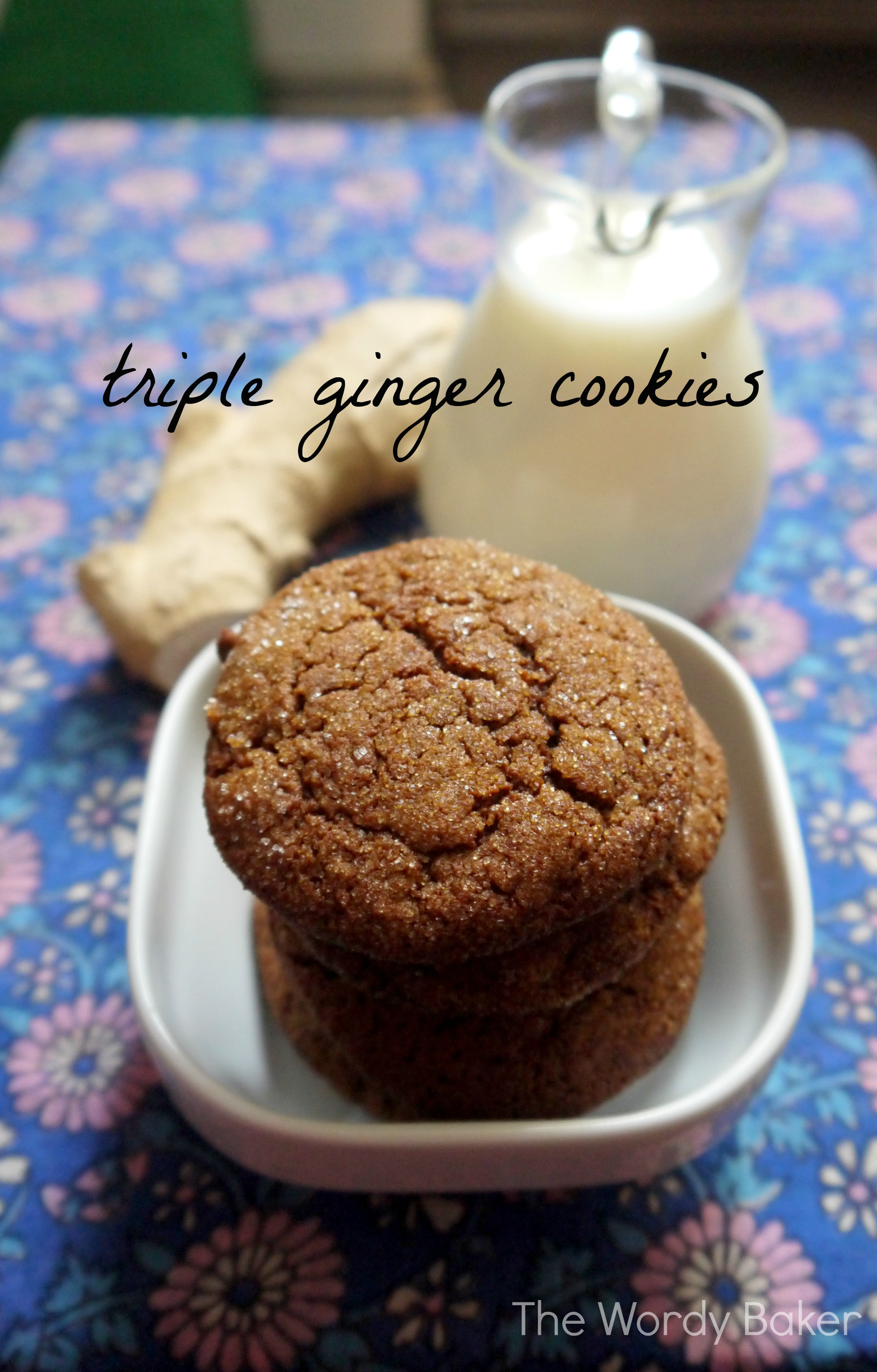 Triple Ginger Cookies | The Wordy Baker