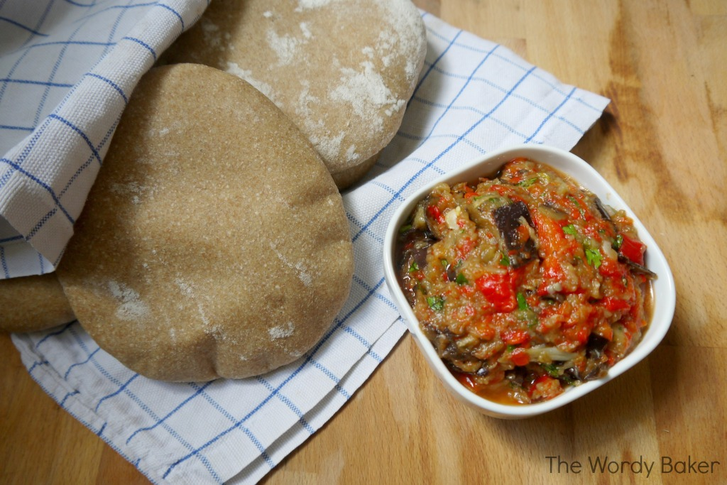 eggplant spread and pita01